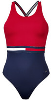 Tommy Hilfiger Women's Hanalei Bathing Suit - Crimson/Navy