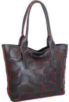Nino Bossi Women's Tyra Woven Leather Tote