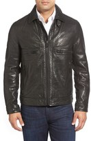 Andrew Marc 'Exeter' Lambskin Leather Trucker Jacket