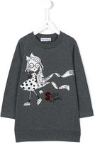 Simonetta fashion girl sweatshirt dress - kids - Cotton/Spandex/Elastane - 4 yrs