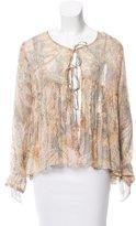 Mes Demoiselles Printed Long Sleeve Top w/ Tags