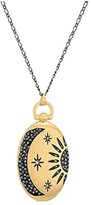 Lucky Brand Sun and Moon Pave Pendant Necklace (Two-Tone) Necklace