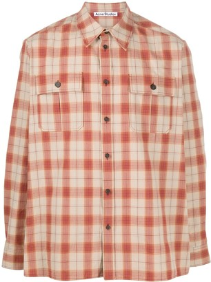 Acne Studios Oversized Checked Flannel Shirt