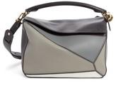 Loewe Medium Puzzle Colorblock Leather Shoulder Bag - Grey