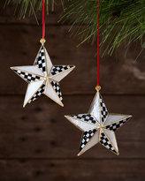 Mackenzie Childs MacKenzie-Childs Star Bright Ornaments, Set of 2
