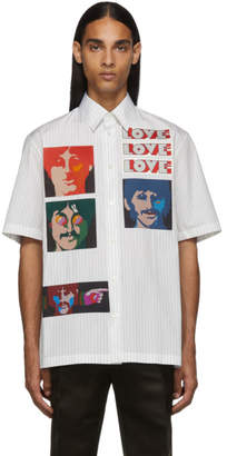 Stella McCartney White The Beatles Edition Striped No Pocket Shirt