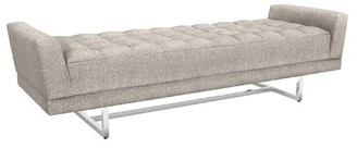 Interlude Luca King Upholstered Bench Color: Bungalow