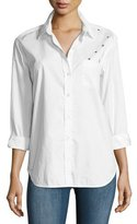 Equipment Kenton Insect Cotton Shirt, White