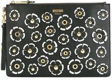 Moschino flower power clutch - women - Leather - One Size