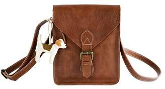 Genuine Leather Crossbody Crossover Bag - Best Vintage Leather Crossbody Purse ()