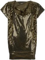 Vivienne Westwood metallic loose-fit blouse - women - Polyurethane/Spandex/Elastane/Viscose - S