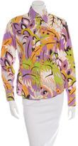 Etro Print Long Sleeve Button Up Shirt