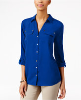 Charter Club Utility Shirt, Only at Macy's