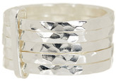 Argentovivo Sterling Silver Hammered 5 Row Band - Size 5