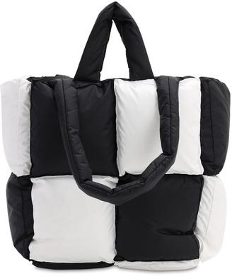 Off-White Small Bicolor Puffy Nylon Tote Bag