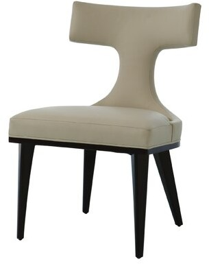 """Global Views Anvil 22"""" W Top Grain Leather Side Chair Fabric: Ivory Genuine Leather"""
