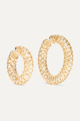 Saskia Diez Set Of Two Gold-plated Ear Cuffs - one size