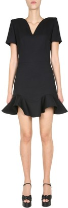 Alexander McQueen V-Neck Mini Dress