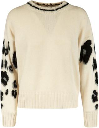 VIVETTA Sleeve Leopard Knit Sweater
