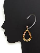 Gerard Yosca Gaby Open Teardrop Earrings