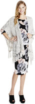 Jessica Simpson Maternity Fringed Open-Front Sweater