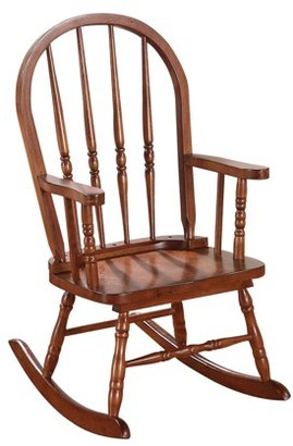 """ACME Furniture ACME Kloris Youth Wooden Rocking Chair, Tobacco 16""""W"""