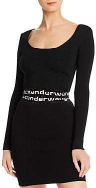 Alexander Wang Low-Back Crop Top
