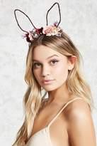 Forever 21 Floral Bunny Ear Headband