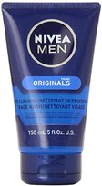 Nivea Men Face Wash Cleans n Moisturizes with Menthol and Vit E, 5 oz each, Pack of 2