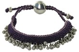 Links of London 925 Sterling Silver Beads with Purple Woven Effervescence Bracelet