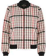 River Island Womens Pink classic checked bomber jacket