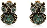 Alcozer & J Sophie & Claire Owl Stud Earrings
