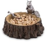 Arthur Court Standing Squirrel Nut Bowl and Scoop