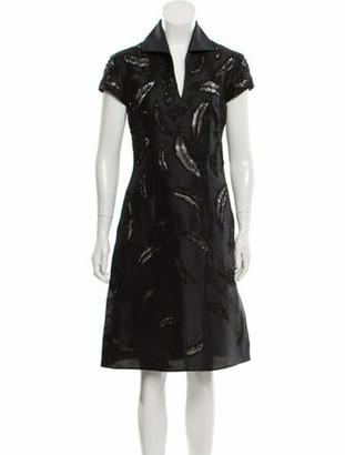 Naeem Khan Embellished Midi Dress Black