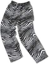 Zubaz XL, Black / Metallic Zebra Pant