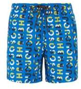 Boss Quick-dry swim shorts with all-over logo print