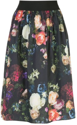 Adam Lippes Multi Floral Full Skirt