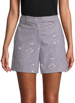 Carven Women's Speckle Print Shorts