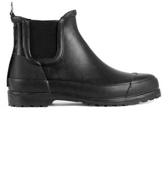 Ilse Jacobsen Black Rubber Ankle Boots - 36