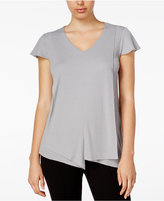 Kensie Asymmetrical Flutter-Sleeve Top