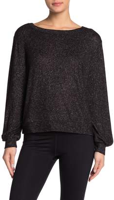 Zella Z By Cropped Hatchi Knit Long Sleeve Pullover