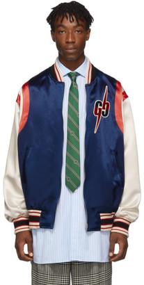 Gucci Blue GG Blade Bomber Jacket