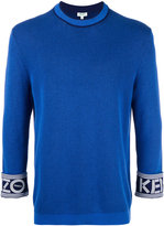 Kenzo branded turn-up sweatshirt - men - Cotton - S