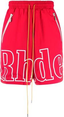 Rhude Logo Print Shorts