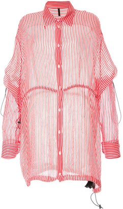Unravel Project Stripe Drawstring Over Shirt