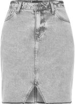 River Island Womens Grey cut out hem denim skirt