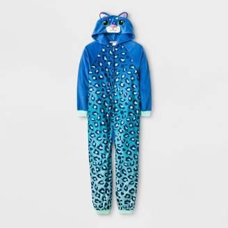 Cat & Jack Girls' One Piece Pajamas - Cat & JackTM Blue