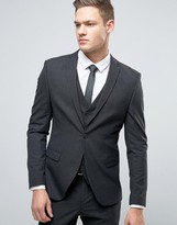 Selected Homme Super Skinny Suit Jacket In Tonic