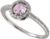 Crislu Ring, MicroLuxe Platinum over Sterling Silver Amethyst and Clear Cubic Zirconia (5/8 ct. t.w.)