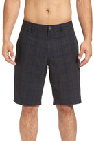 Travis Mathew Saenz Plaid Hybrid Short